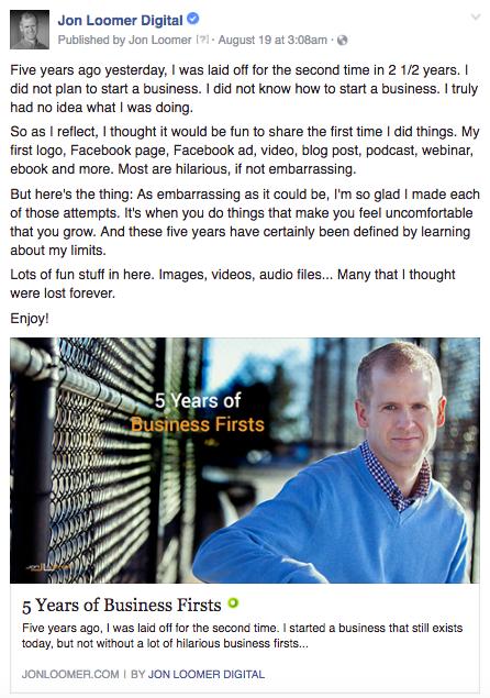 Recent Blog Post Facebook Ad