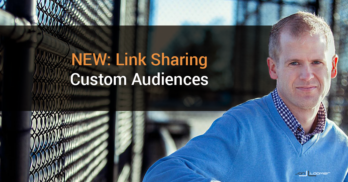 Facebook Link Sharing Custom Audiences