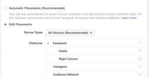 Facebook Messenger Destination Placement