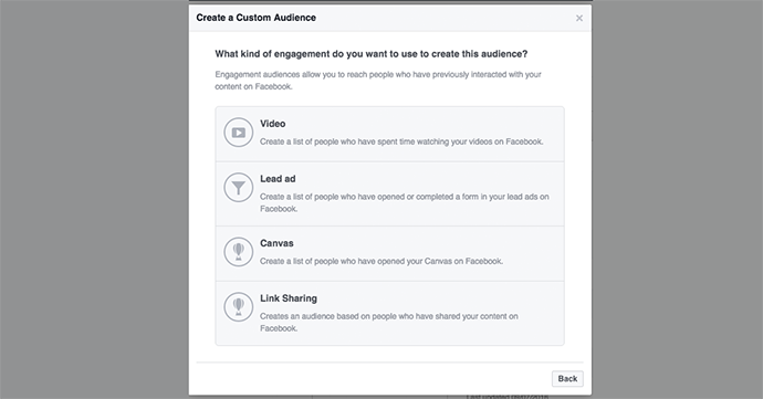 Link Sharing Custom Audience