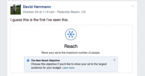 Facebook Reach Objective