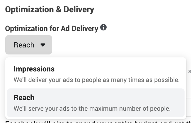 Facebook Reach Optimization