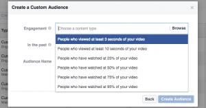 Facebook Video Views Custom Audience