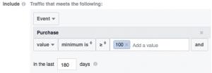 Facebook Website Custom Audience Advanced Mode