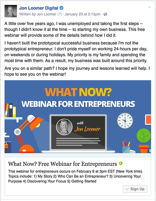 Facebook Lead Ad Webinar