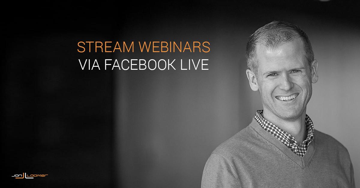 Facebook Live Webinars