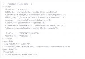 Facebook Pixel Example