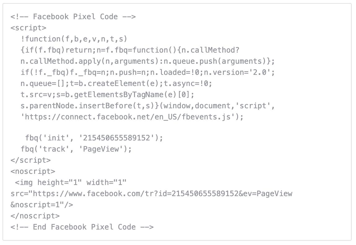 Facebook Pixel Example