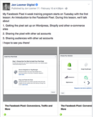 Facebook Post Training Program