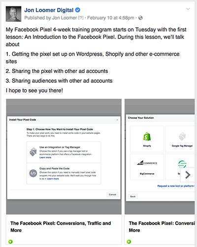 Facebook Post Training Program