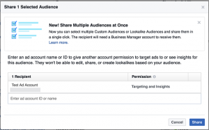 Business Manager Share Audiences