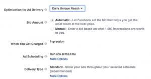 Evergreen Facebook Campaign Daily Unique Reach