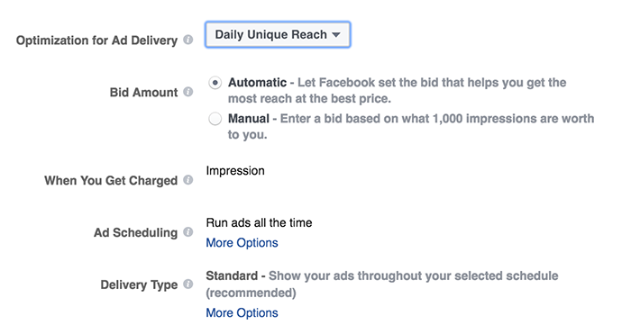 Evergreen Facebook Campaign Daily Unique Reach