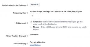 Evergreen Facebook Campaign Reach
