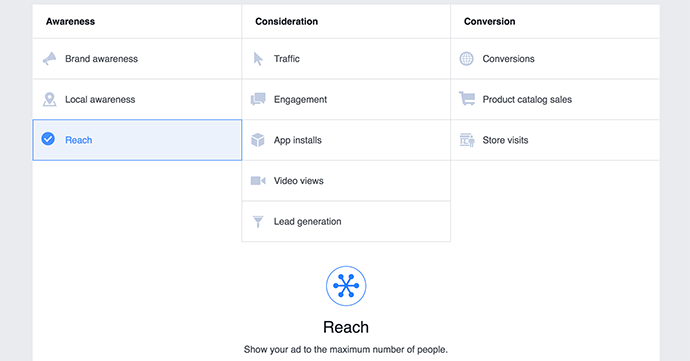 Facebook Ads Reach Objective