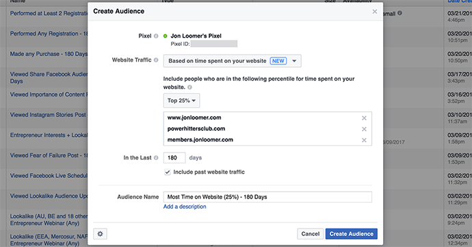 Facebook Ads Time on Site