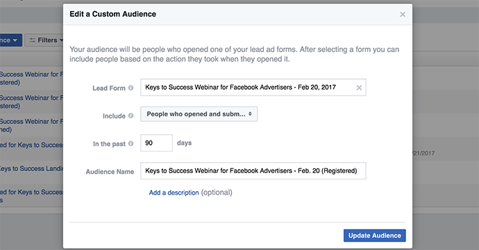 Facebook Lead Ads Registration