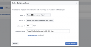 Facebook Message Custom Audience