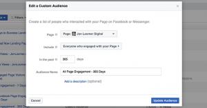 Facebook Message Custom Audience