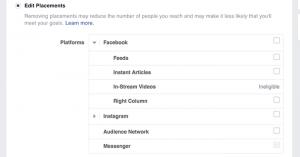 Facebook Messenger Placement