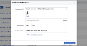 Facebook Video View Custom Audience