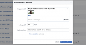 Facebook Video View Custom Audience