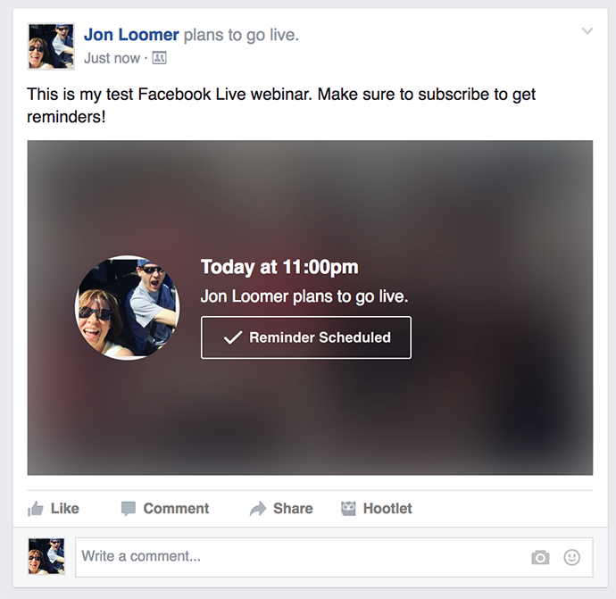 Wirecast Facebook Live