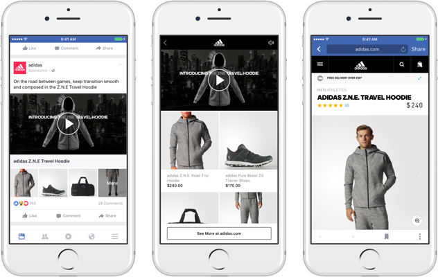 Facebook Ads Collection Adidas