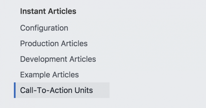 Facebook Instant Articles Call-to-Action Units