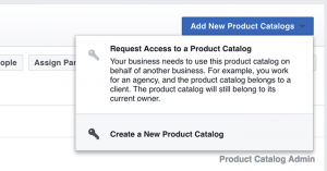 Facebook Product Catalog