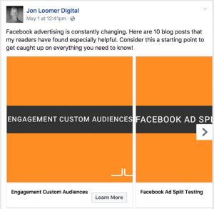 Facebook Ad Carousel