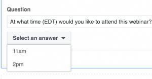 Facebook Lead Ad Forms Questions