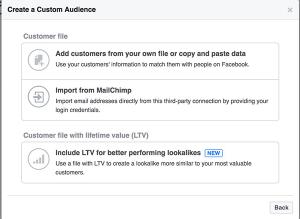 Lifetime Value Custom Audience Facebook