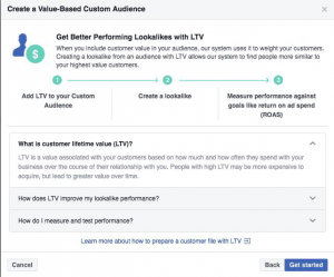 Lifetime Value Custom Audiences Facebook