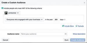 Instagram Business Profile Custom Audience