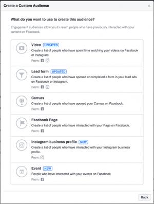 Facebook Events Custom Audiences