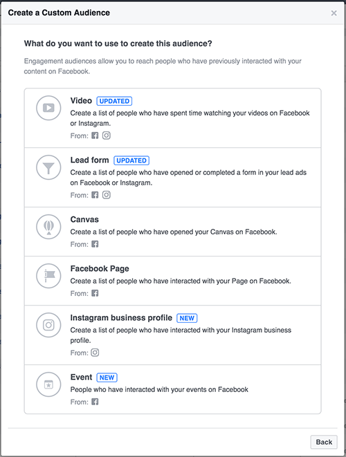 Facebook Events Custom Audiences