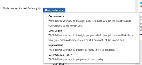 Facebook Conversion Optimization