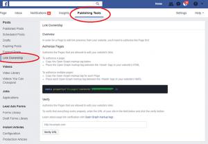 Facebook Link Ownership