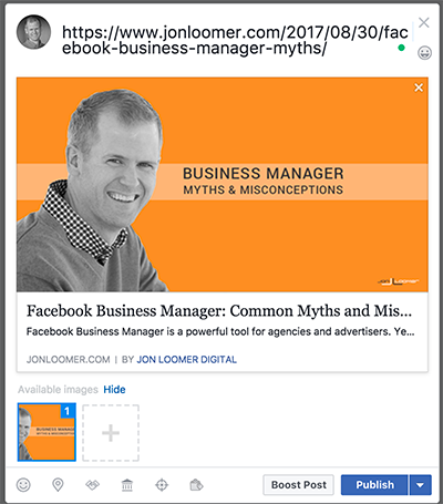 Facebook Link Preview - Publisher
