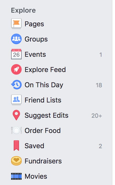 Facebook Explore Feed