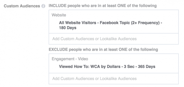 Facebook Video Targeting
