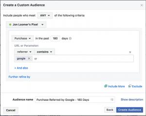 Website Custom Audiences Events