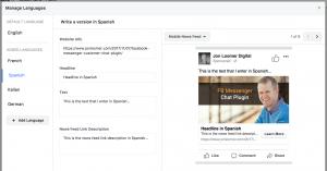 Facebook Ads Dynamic Language Optimization
