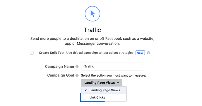 Facebook Campaign Goals