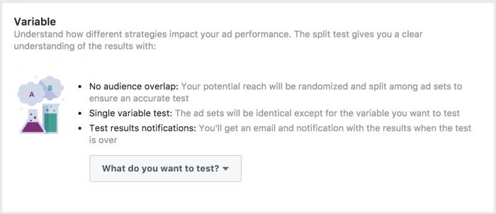 Facebook Split Testing