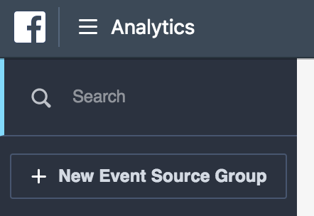 Facebook Analytics Event Source Group