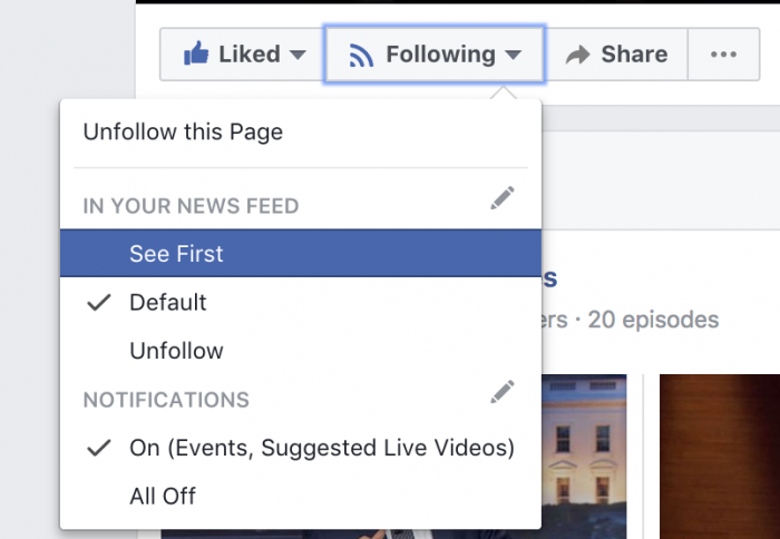 Facebook News Feed See First