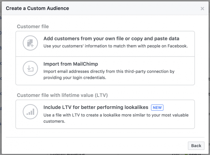 Facebook Customer File Custom Audience