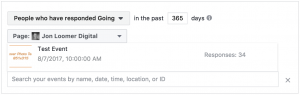 Facebook Event Custom Audiences